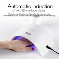 Pro Nail Droger LED light therapy machine 24W SUN9C + white European regulations Voor Curing Alle Gels Manicure Nail Art Gel