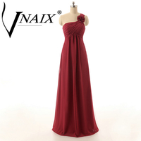Vnaix DB2607 One Shoulder Bridesmaid Dresses Floor Length A Line Long chiffon Formal Party Gowns Cheap