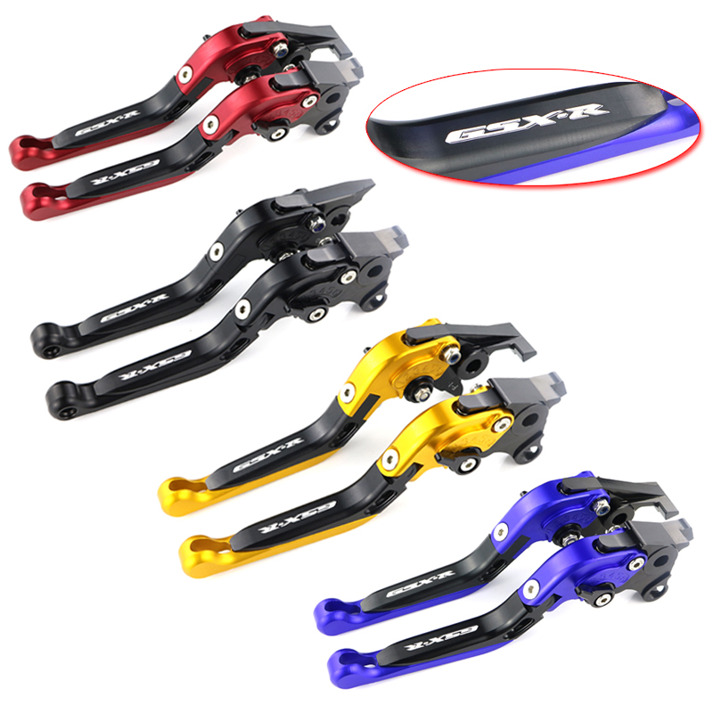 For SUZUKI GSXR 600 GSXR600 2004 2005 GSXR750 GSXR 750 2004 2005 GSXR k4 Adjustable Folding Extendable Clutch Brake Levers motorcycle fairing kit for suzuki gsxr600 k4 k5 2004 2005 black yellow gsxr 600 gsx r 750 04 05 fairings ty38