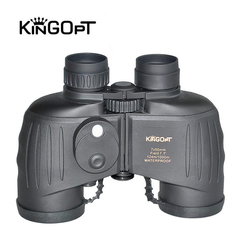 KINGOPT 7X50 Binocular HD Waterproof Lll Night Vision Binocular Telescopes with Compass Rangefinder Military Hunting Equipments good quality hunting night vision 4x50 nv binocular 4x magnification night vision binocular max range 300m
