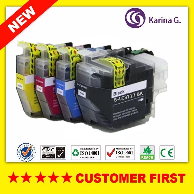 Compatible Ink Cartridge For Brother LC3717 Suit For Brother MFC J2330DW/MFC J3530DW/MFC J3930DW Etc... Printer