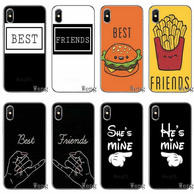 موضة bff أفضل أصدقاء للأبد لسامسونج غالاكسي S10 S9 S8 S7 S6 حافة زائد لايت S5 S4 mini نوت 9 8 5 4 بولي جراب لينة جراب هاتف