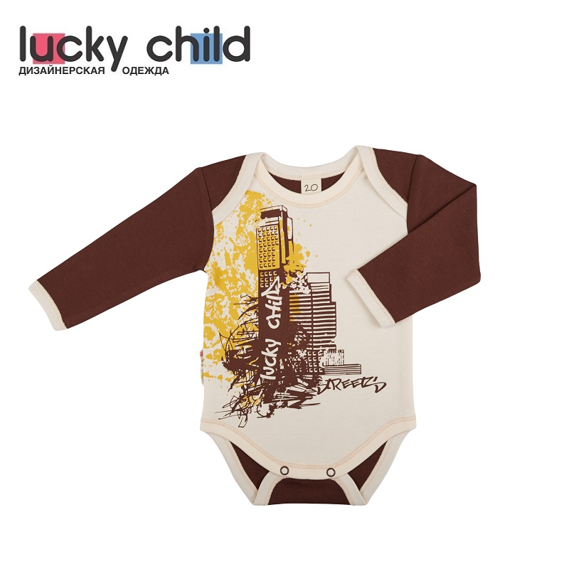 Bodysuits Lucky Child for boys and girls 16-19 Body Newborns Babies Baby Clothing Children clothes newborn baby boy girl set spring 2017 infantil boys outerwear sport clothing cartoon letter print girls clothes 2pcs suit cloth