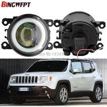 2x Nuevo Ángel ojos parachoques delantero de estilo de coche LED luces de niebla con len para Jeep renegado BU 2015 de 2016 a 2017