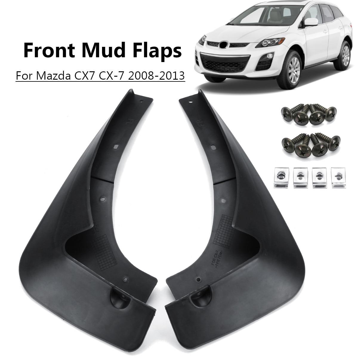 2pcs For Mazda CX7 CX-7 2008-2013 Car Rear Front Mud Flaps Fender Flares Mudguards Mudflaps Splash Guards