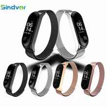 Sindvor Strap For Xiaomi Mi Band 3 Strap For Xiaomi Miband 3 Bracelet For Xiaomi Correa Mi Band 3 Magnet Metal Stainless Steel