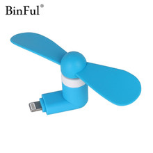 BinFul Portable Flexible Cooling usb Fan Mini USB gadget Portable For IOS iphone 5 5s 6 6s plus 7 Plus Smart Phone USB Dadgets