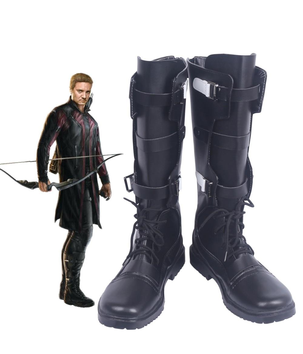 Avengers: Age of Ultron Clinton Francis Barton Hawkeye Cosplay Stivali Scarpe Su misura