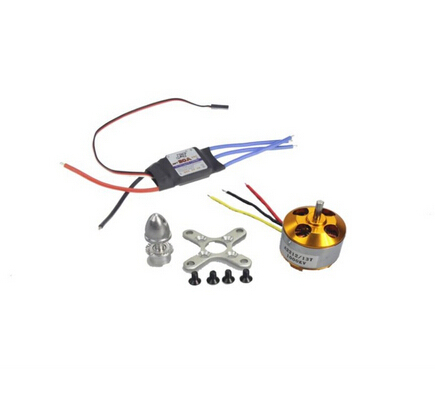 F02015-z A2212 1000KV Brushless Outrunner Motor 13T + 30A Speed Controller ESC ,RC Aircraft KK  Copter UFO