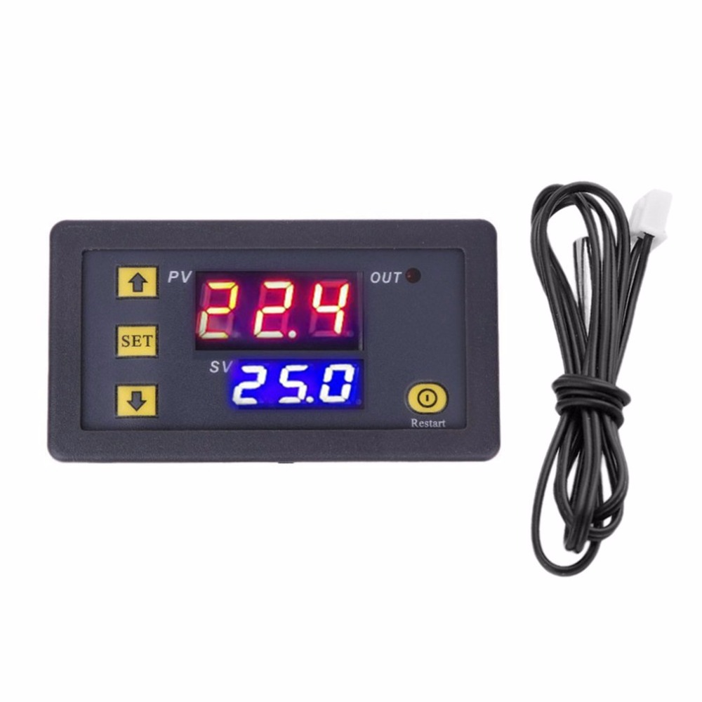 Detector Temperature-Controller Heat-Cooler Digital W3230 LED Dual Temp-Meter