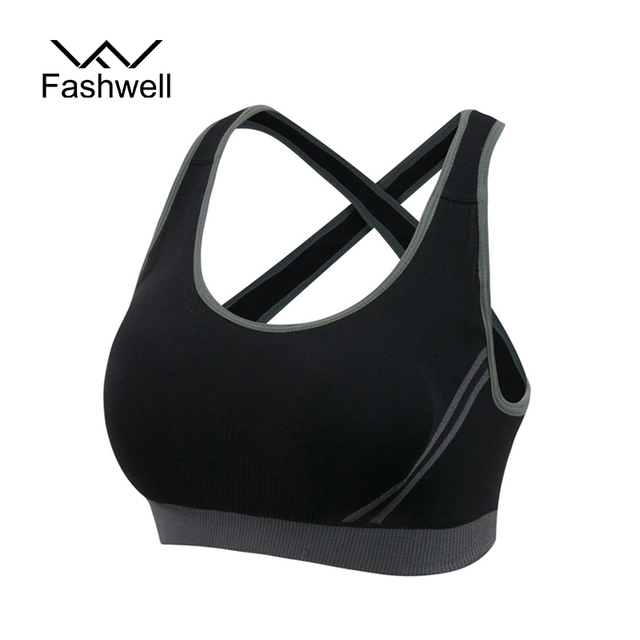 Fashion Women Wire Free Seamless Solid Bra Fitness Bras Tops Breathable Underwear Padded Push up Bra Full Cup Free Shipping