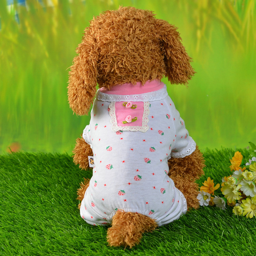 Pet Dog Fashion Strawberry Style Clothes Puppy Christmas Costumes Apparel