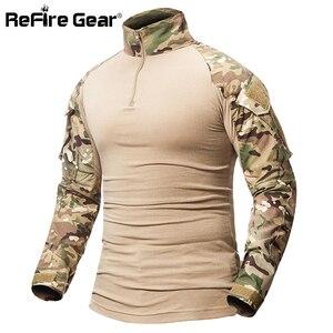 Image 4 - ReFire Gear Camouflage Armyเสื้อยืดผู้ชายUS RUทหารCombatยุทธวิธีTเสื้อทหารForce Multicam Camoเสื้อTเสื้อ