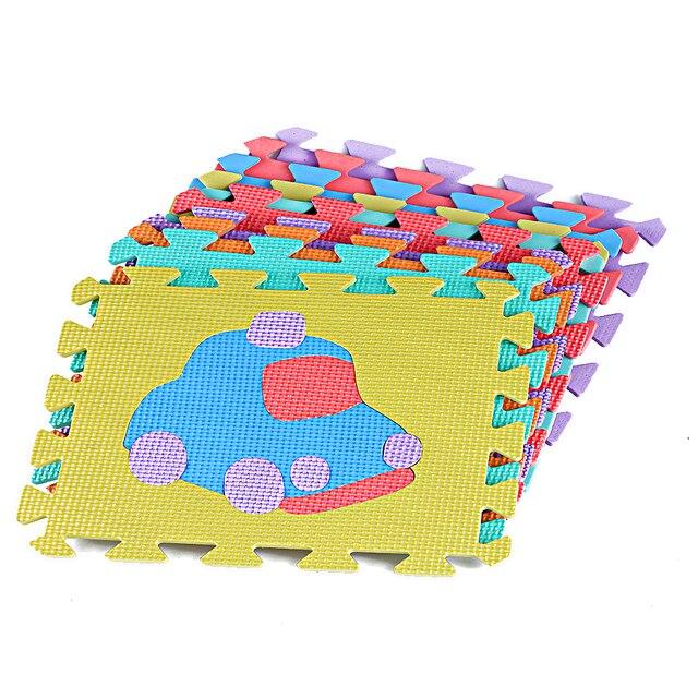 10 Pcs Bebe Jouer Puzzle Tapis Tapis Puzzle Tapis Eva Mousse Etanche