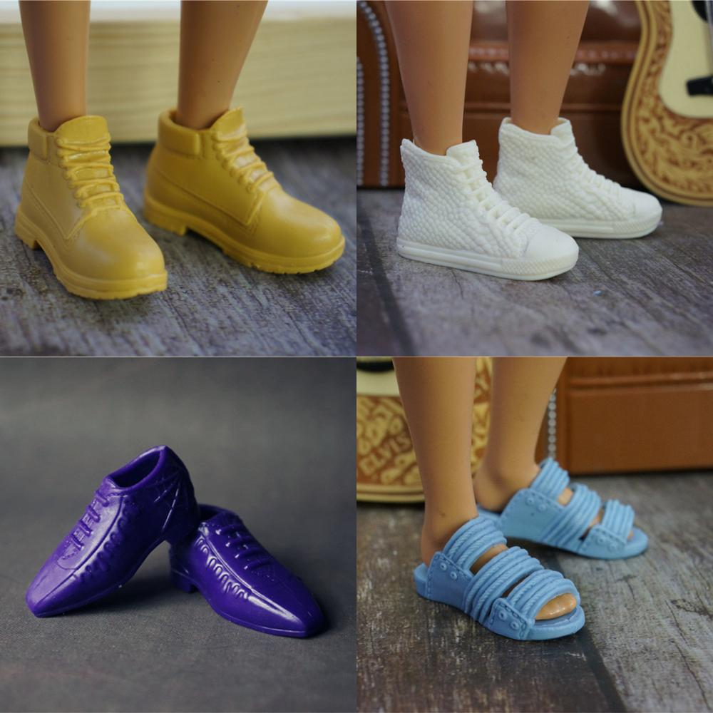 1Pair Fashion Doll Shoes High Quality Sneakers Shoes For Prince Ken Male Dolls Accessories For Barbie Boyfriend Ken