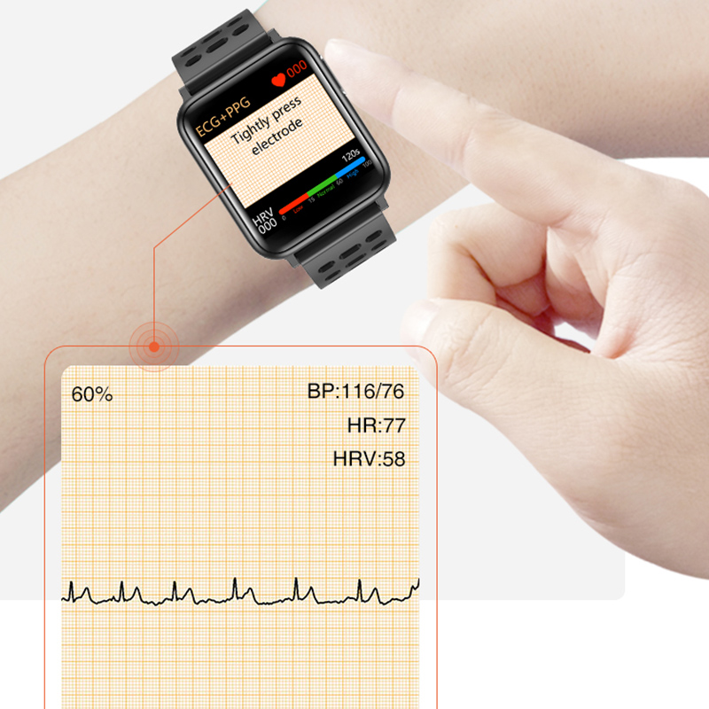 Image 3 - KAIHAI H69 ECG PPG SpO2 HRV fitness health smart watch men electronic blood pressure measurement Heart rate monitor smartwatch-in Smart Watches from Consumer Electronics