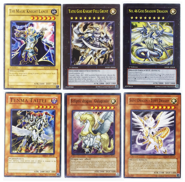 41pcs /Set With Box Yugioh Game Paper Cards Toys Girl Boy