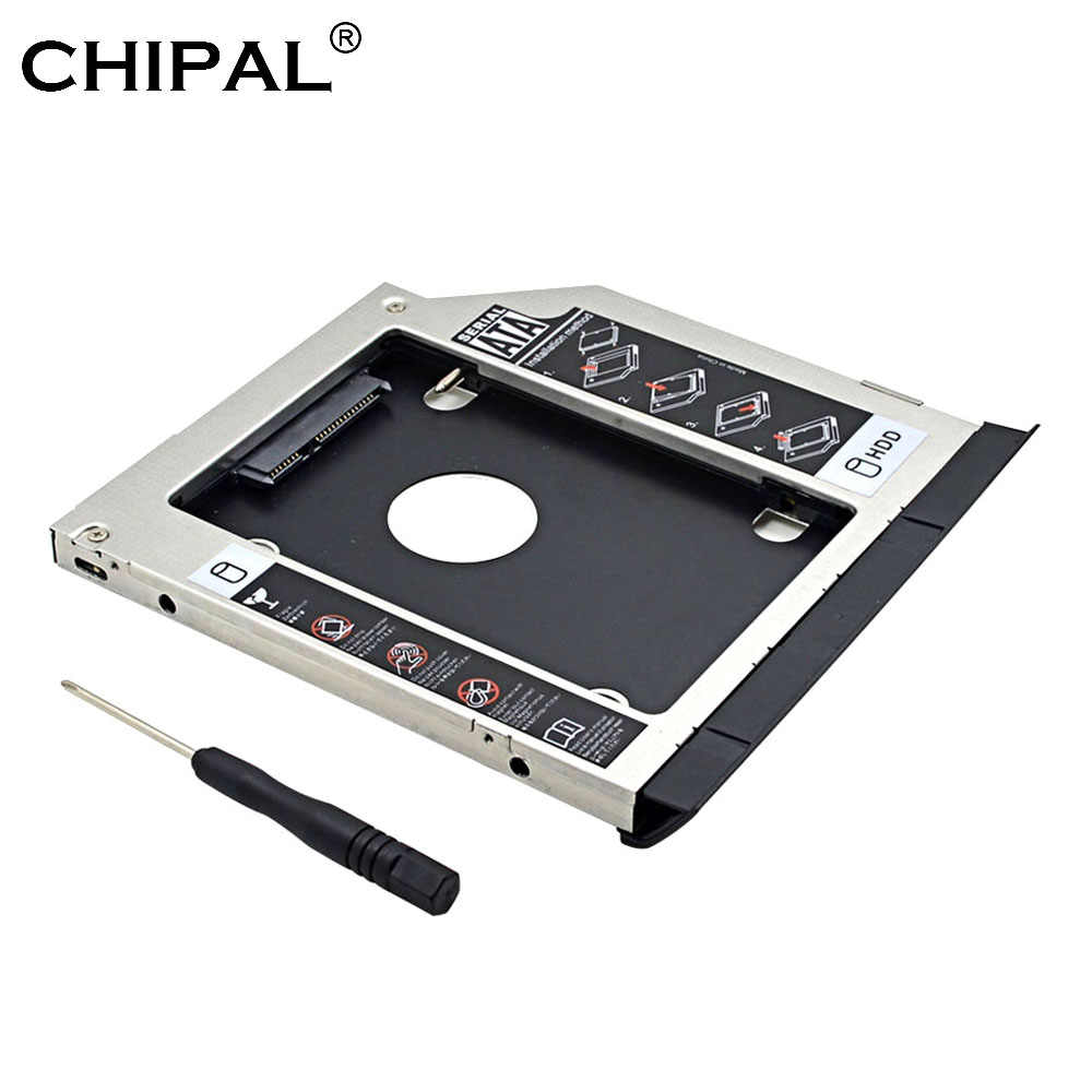 CHIPAL 2nd HDD Caddy 9,5 MM SATA 3,0 con eyector doble luz LED para Dell Latitude E6320 E6420 E6520 E6330 E6430 E6530 CD-ROM