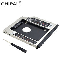 CHIPAL 2nd HDD Caddy 9.5MM SATA 3.0 with Ejector Dual LED Light for Dell Latitude E6320 E6420 E6520 E6330 E6430 E6530 CD-ROM(China)