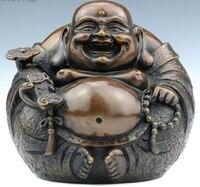 SCY 426+++Maitreya copper Buddha car ornaments gifts Home Furnishing harmony decoration