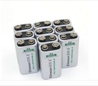 10pcs/lot ETINESAN 550mAh 9v li ion lithium Rechargeable Battery REAL CAPACITY,Toys Flashlight game machine, computer, horn, fan