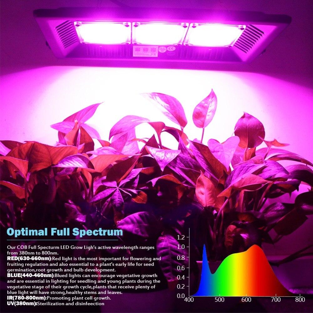 M. CHEN Garantie 5 Années Étanche IP65 À Effet de Serre Bloom Semis Fleur Légumes Usine Boîte Tente led à spectre complet Élèvent La Lumière - 2