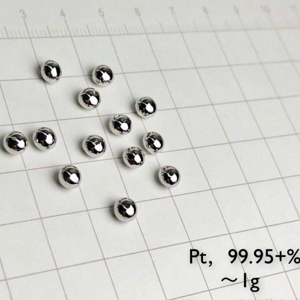 1 gram 99.95%  Pt solid Platinum metal pellet element 78 sample 1 gram 99.95%  Pt solid Platinum metal pellet element 78 sample