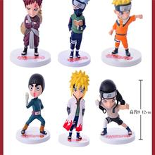 цена 6Pcs/1Set Anime Naruto Action Figure Toys Zabuza Haku Kakashi Sasuke Naruto Sakura PVC Model Collection Kids Toys онлайн в 2017 году