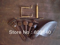 1 Set WENGE Violin Fitting 4/4 with 1 PC tail guts and 1 PC GOLD Chin Rest Screw and 1 PC Chin Rest Key GOLD Color