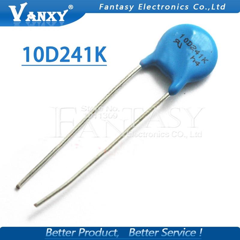 20pcs Varistor 10D241K 240V Piezoresistor 10D241