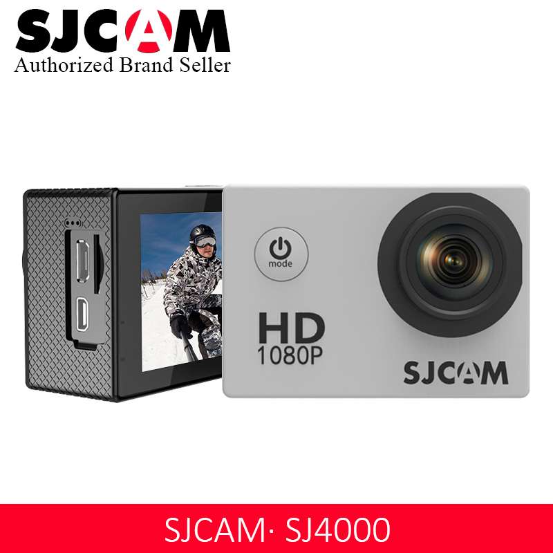 Original SJCAM SJ4000 Action caméra sport DV 2.0 pouces plongée 30 M étanche extrême casque mini caméscope SJ 4000 Cam HD 1080 P
