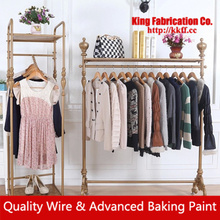 Shop clothes rack free standing Island clothing display shelf display rack