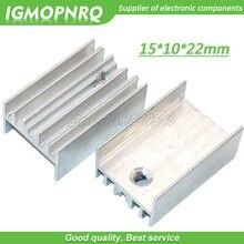 Transistor de alumínio branco do radiador 15*10*22mm do dissipador de calor de 10 pces to-220 para os transistores igmopnrq de to220