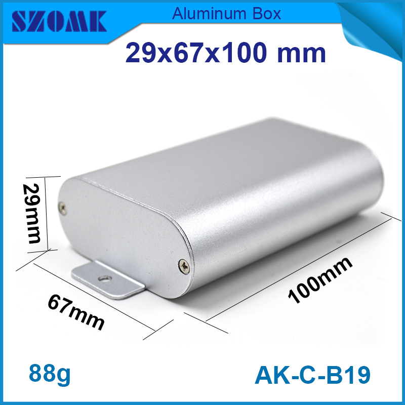 1 piece free shipping made in China szomk aluminum enclosure wall 29(H)x67(W)x100(L) mm 1 piece free shipping aluminum enclosure project box extruded aluminum enclosures 46 h x66 w x100 l mm