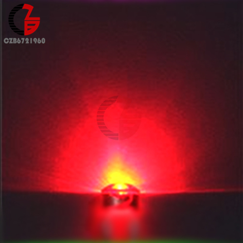 100 шт. 5 мм Диодная соломенная шляпа белый красный зеленый синий желтый фиолетовый Smd Smt Led прозрачная супер яркая широкоугольная лампа 20000mcd лампа - Испускаемый цвет: Red