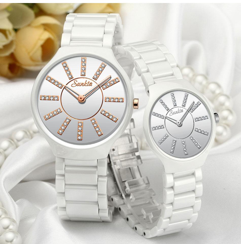 Mulheres de nova SUNKTA Saterproof Relógios Dos