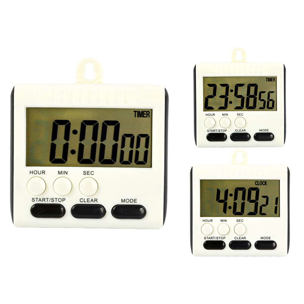 magnetic large lcd digital kitchen timer alarm count up down clock 24 hours in kitchen timers. Black Bedroom Furniture Sets. Home Design Ideas