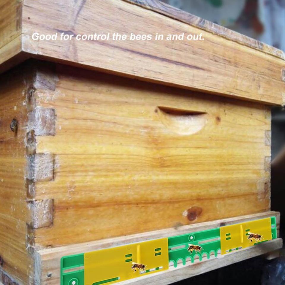 5pcs//set Plastic Beehive Door Beekeeping Box Entrance Disc Bee Nest Gate Kit
