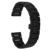 Cheio de cerâmica relógio banda 22mm para moto 360 2 46mm 2015 butterfly Cinto de fivela Correia de Pulso Pulseira Preto Branco + + Ferramenta de Barra de Mola
