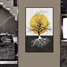 Fashion Black Tree in White Canvas or PVC Painting Plant Poster Print Wall Art For Living Room Abstract Cuadros Decoracion Salon