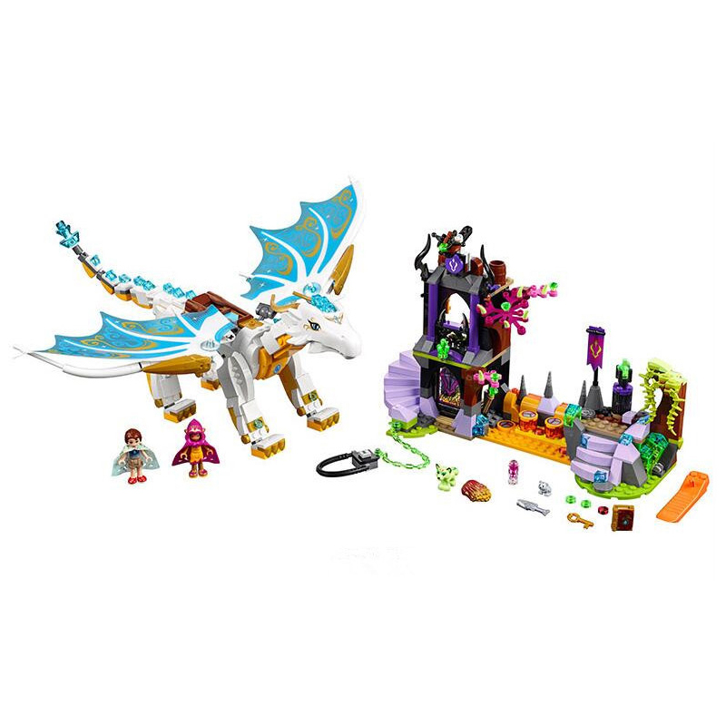 41179 elfos mucho después del rescate Cction Dragon Building Block ladrillos juguete educativo para niños Compatible con Legoe 10550