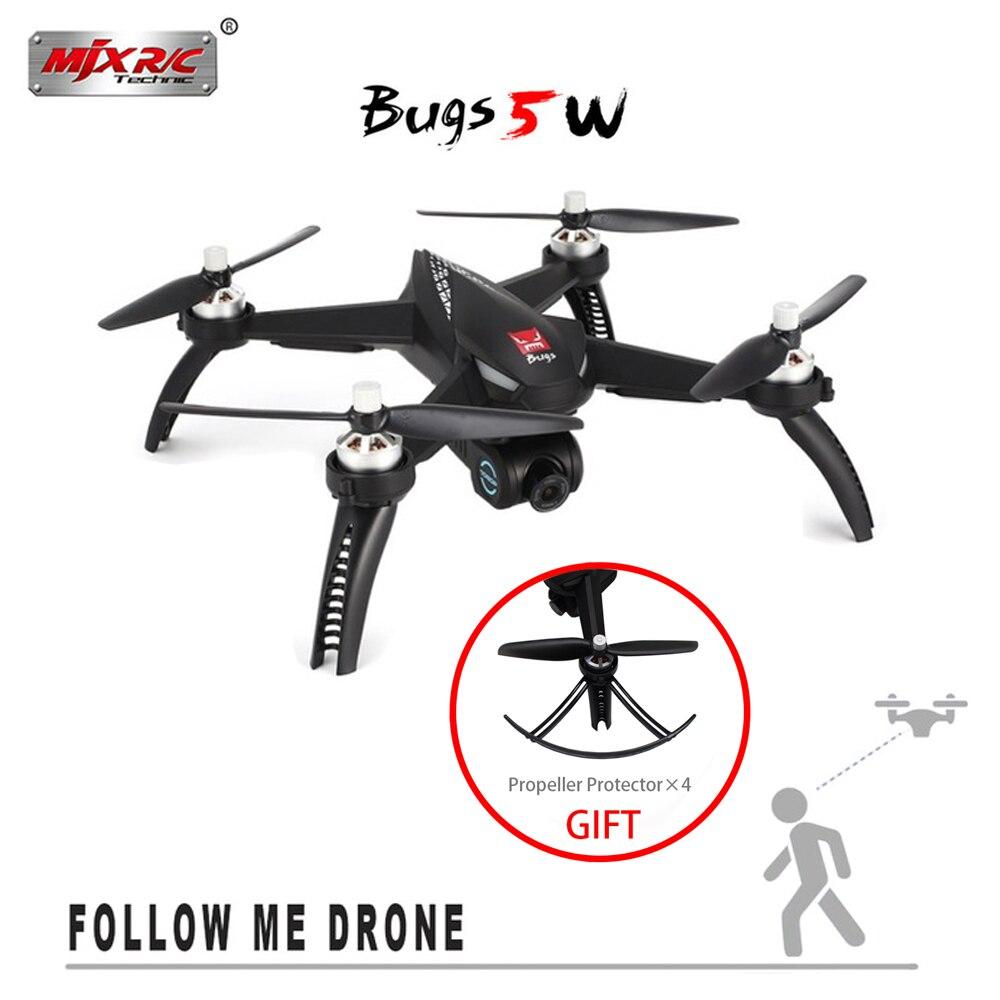 NEW MJX Bugs 5 w B5W Motore Brushless GPS RC Drone Con 5g WIFI FPV regolazione Automatica macchina fotografica RC quadcopter VS X4 RC Elicottero
