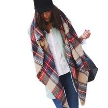 Winter 2016 Tartan Scarf Plaid Scarf cuadros New Designer Unisex Acrylic Basic Shawls Women s big