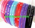 120pcs  UK Super star 1D One Direction Bracelets / Wristbands 5mm Band Wholesale Party gift Jewelry Lots