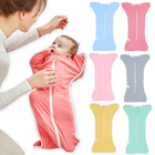 2018 Brand New Baby Sleeping Bag Newborn Toddler Infant Baby Stretch Cotton Sleep Sack Stroller Wrap Blanket Swaddle 0-6M