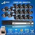 Chegada de novo! 16CH Sistema de Vigilância de Vídeo HDMI & 1800TVL 1080N HD 720 P IR Ao Ar Livre + Indoor CCTV À Prova D' Água Kits de câmera Alerta de E-mail