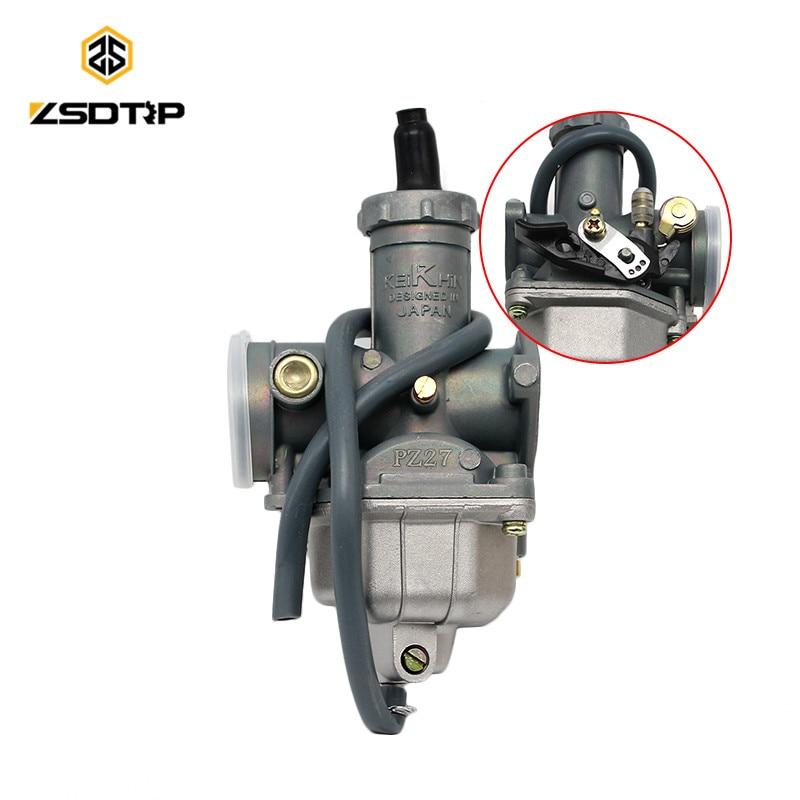 Livraison gratuite 27mm Carburateur Carb moto PZ27 pompe d'accélérateur pour honda CG XL 125 150 175 main starter