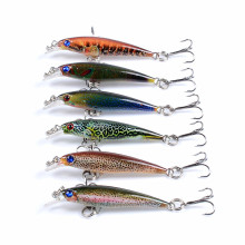 Купить с кэшбэком 5CM 2.2G Minnow Fishing Lure Slow Floating Wobbler Bass 3D Eyes Bait Ice For Fishing Lure Jerkbait Crankbait Sea Fishing Tackle