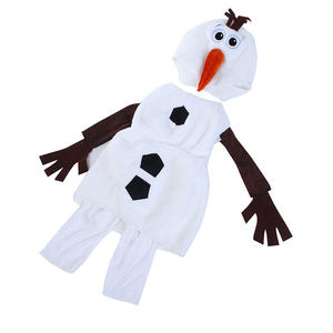 Image 2 - Comfy Deluxe Plush Adorable Child Olaf Halloween Costume For Toddler Kids Favorite Cartoon Movie Snowman Party Dress up