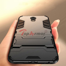 3D Armor Case Hybrid PC+TPU Shockproof For MeiZu 15 Plus M15 Blue Charm M3 M5 M6 Note E2 E3 c M5s M6s M6T Stand